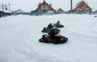 Зимний чемпионат по картингу.